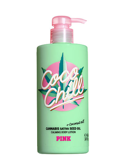 PINK Coco Chill Body Lotion with Cannabis Sativa Seed Oil, Coco Chill, offModelFront, 1 of 4