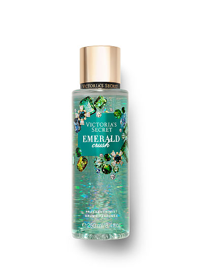 Victoria's Secret, Victoria's Secret new Winter Dazzle Fragrance Mists, Emerald Crush, offModelFront, 1 of 2