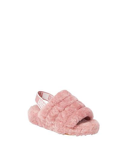 41e4fbbc151 Victoria s Secret Ugg® new Fluff Yeah Slide Seashell Pink off Model Front 1  ...