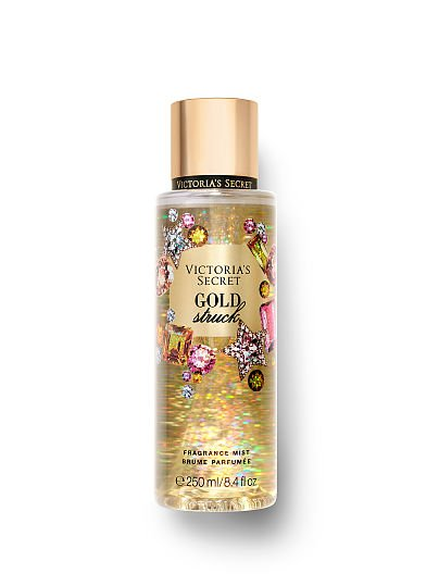 Victoria's Secret new Winter Dazzle Fragrance Mists, Gold Struck, offModelFront, 1 of 2