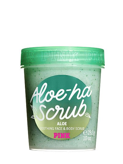 PINK Aloe-Ha Scrub Soothing Face and Body Scrub, featured, 1 of 5