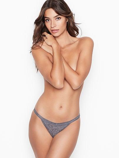 Victoria's Secret, The Lacie Floral Lace String Bikini Panty,