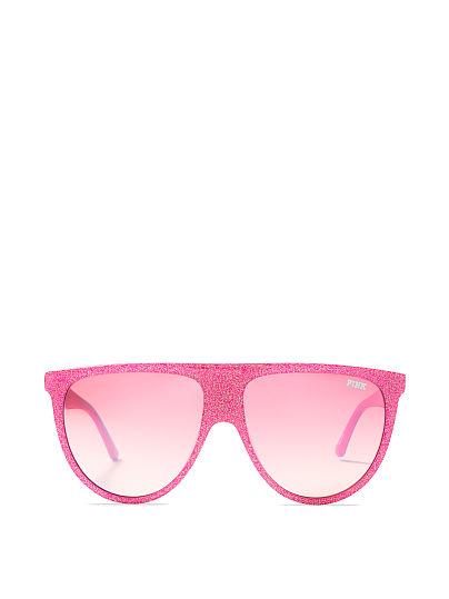 2c372eff318bf Glitter Flat-top Sunglasses - PINK - VSD