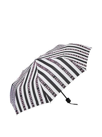 Victoria's Secret Striped Umbrella, Black/White, featured, 1 of 2
