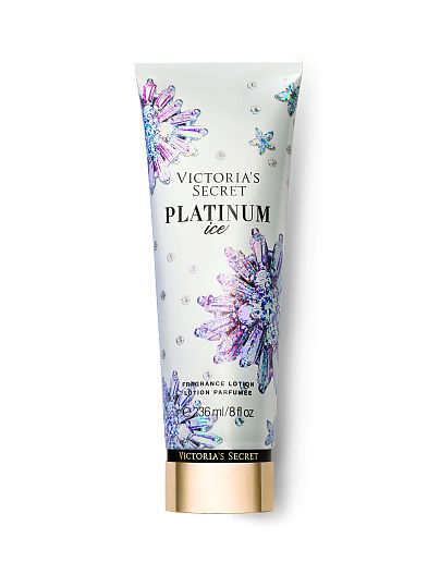 Victoria's Secret new Winter Dazzle Fragrance Lotions, Platinum Ice, offModelFront, 1 of 2