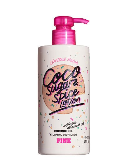 PINK Limited Edition Coco Sugar & Spice Hydrating Body Lotion, Coco Sugar & Spice Hydrating Body Lotion, offModelFront, 1 of 3
