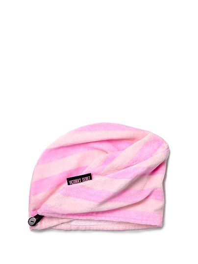 Victoria's Secret, Victoria's Secret Striped Hair Towel, Pink, featured, 1 of 2