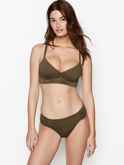 8a509ee9c4 Victoria s Secret Seafolly new Quilted DD Cup Bralette Dark Olive on Model  Front 1 ...