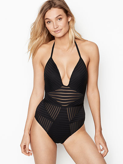 0734ba6d866a Push-up Linear Halter One-piece - Kenneth Cole - vs