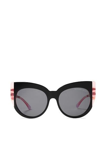 f73f2b314f9d89 Victoria's Secret, Victoria's Secret new Two-tone Oversized Sunglasses,  Black/Pink,