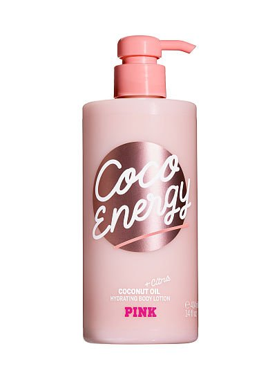 PINK Coco Energy Hydrating Body Lotion with Coconut Oil & Citrus, Coco Energy,