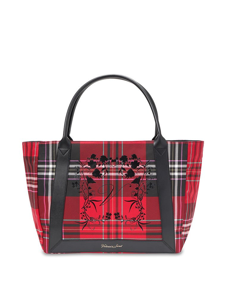 Underwear in gray and Red Plaid handbag