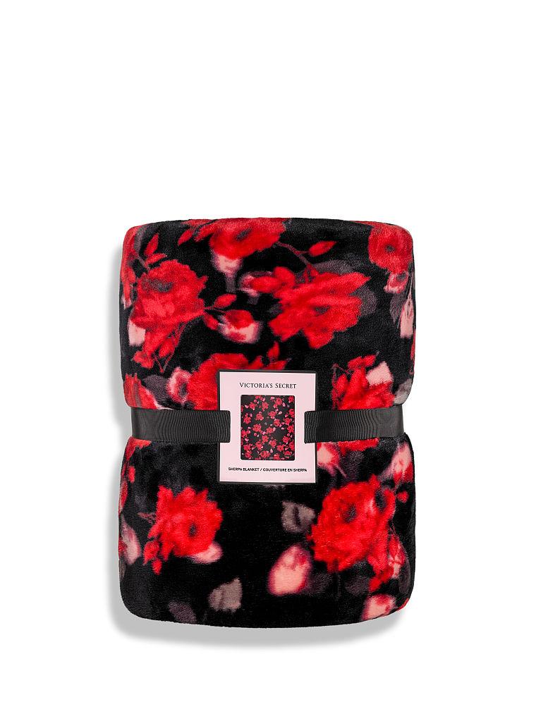 Victorias Secret Love Floral Sherpa Blanket Plush Cozy Throw Holday 2020fastship