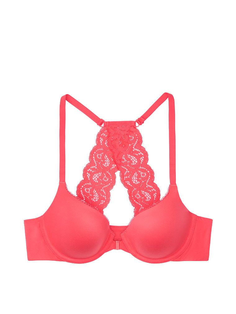 New Victoria/'s Secret 34D Lace Body By Victoria Unlined Demi Dark Blue Bra #5761