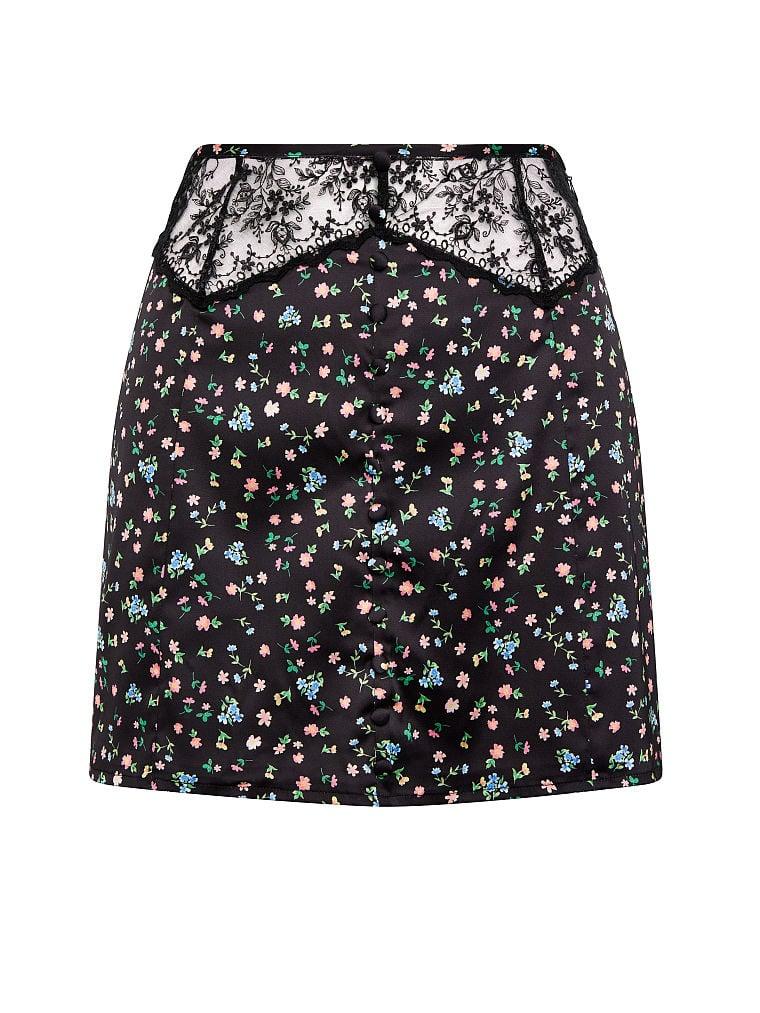 Victoria's Secret, For Love & Lemons Lucy Mini Skirt, Floral, offModelFront, 4 of 5