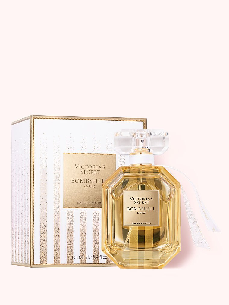 Victoria's Secret new Bombshell Gold Eau de Parfum, 3.4 fl oz, offModelBack, 2 of 2