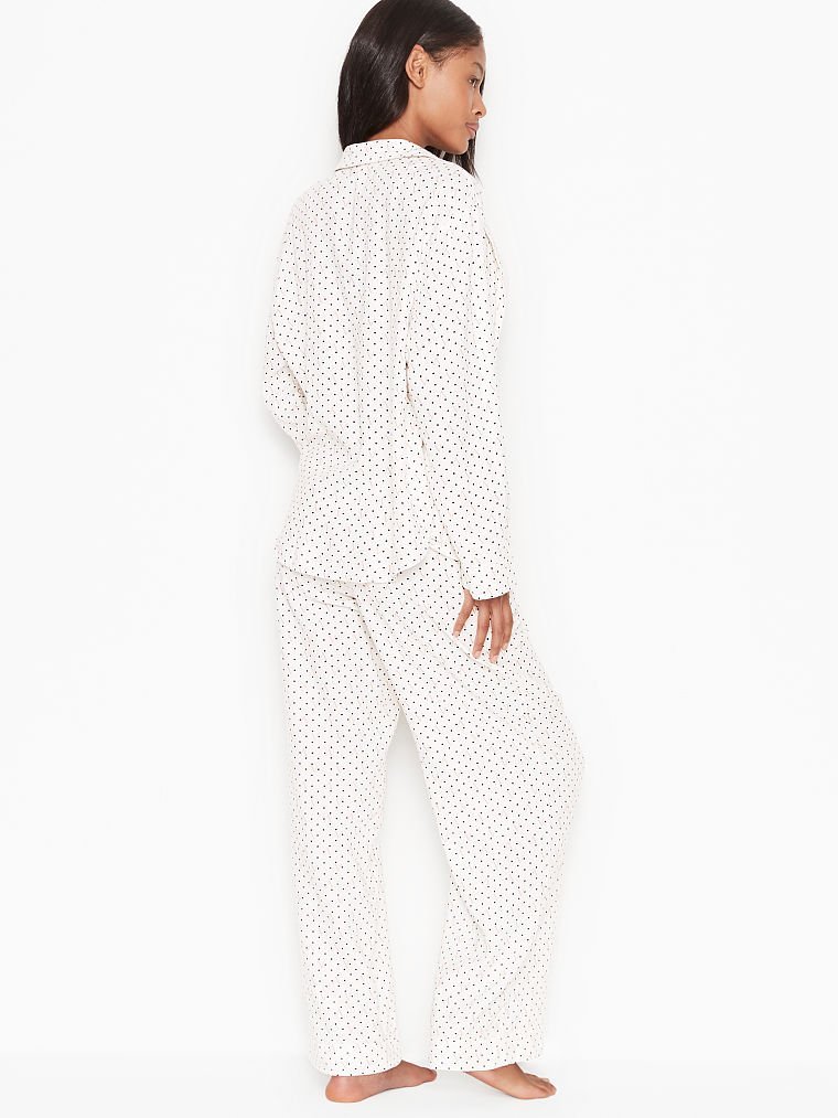 Details about  /Victorias Secret Pajama Set Long Sleeve Top White /& Dreamer Flannel Pant Stars