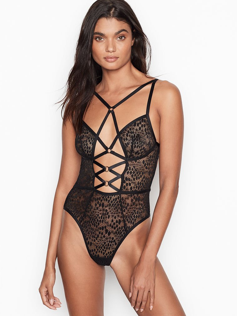 Snake Lace Triangle Teddy