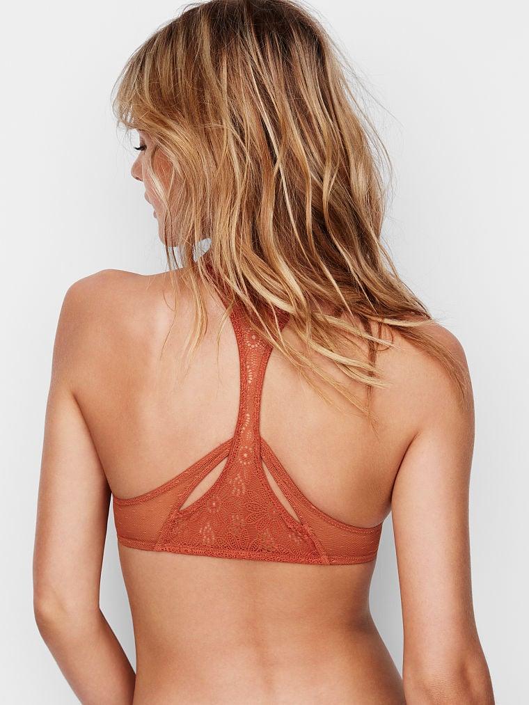 Details about  /NWT Victoria/'s Secret Front Close Bralette Orange Daisy Lace S Small New