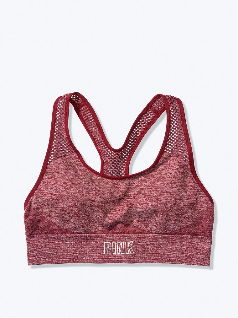 Victorias Secret Pink Seamless  Gym Racerback Women Sports Bra Size L
