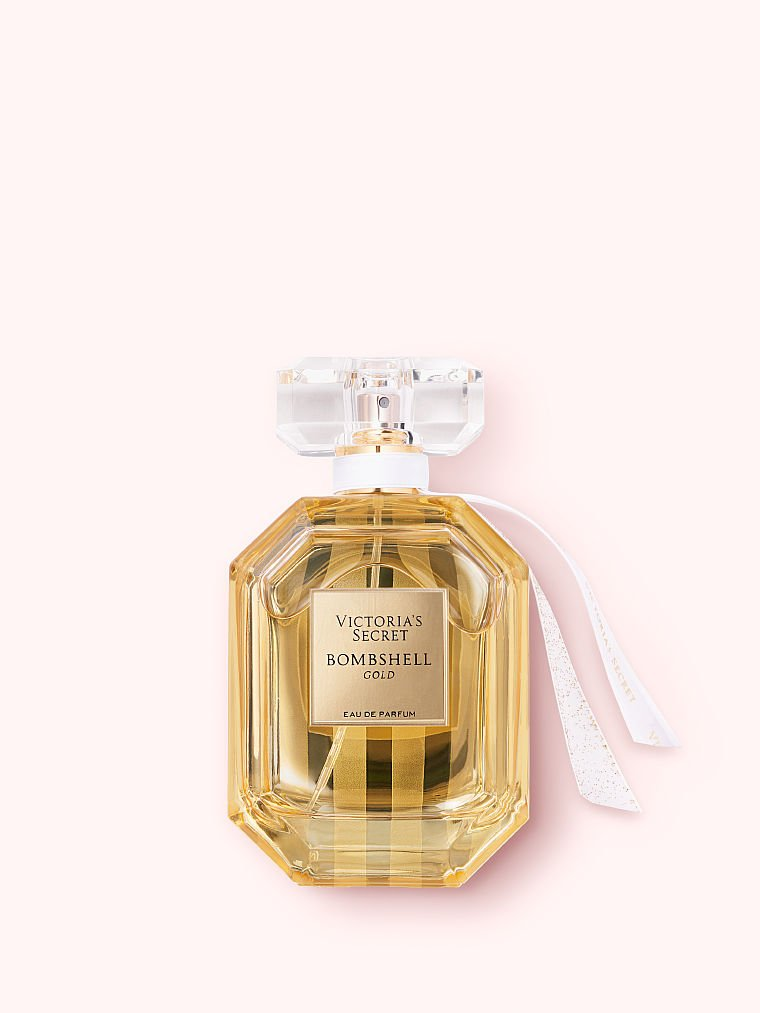 Victoria's Secret new Bombshell Gold Eau de Parfum, 3.4 fl oz, offModelFront, 1 of 2