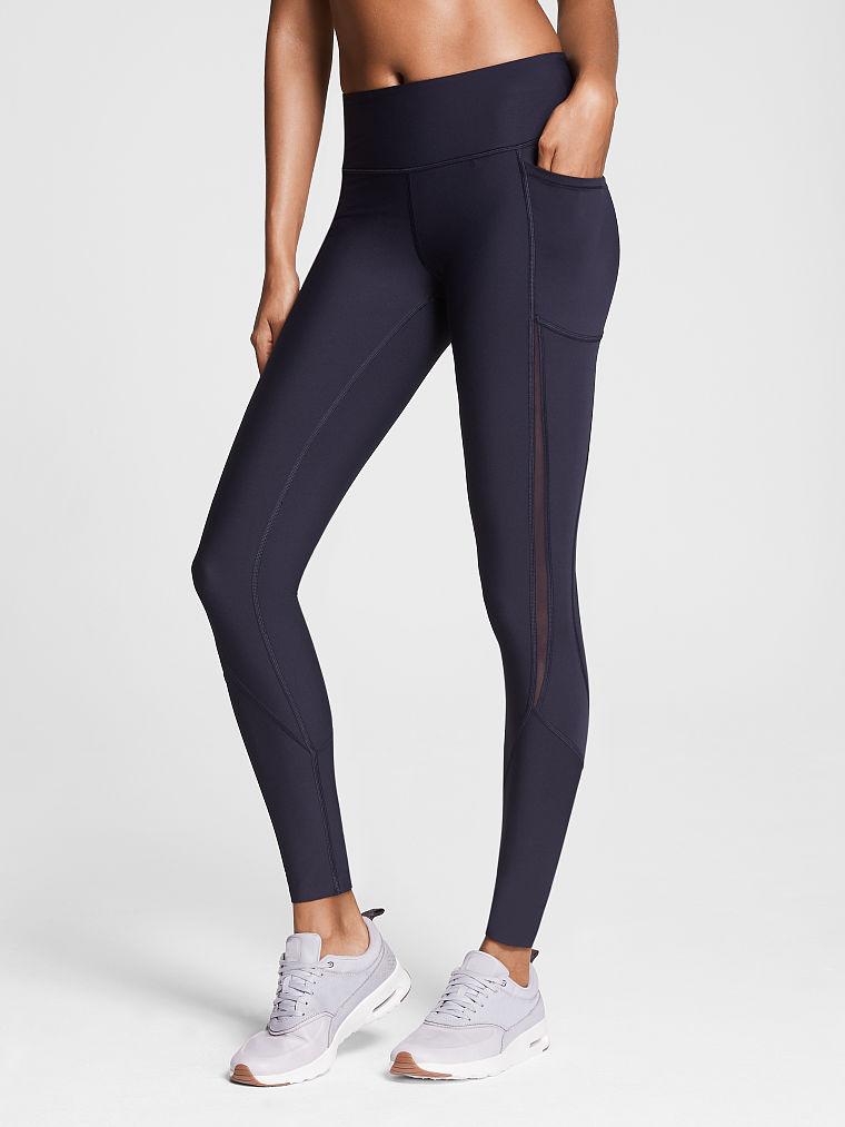 Details about  /Victoria/'s Secret VSX Work Out Gym Tights Medium SHORT Length High Rise Waist