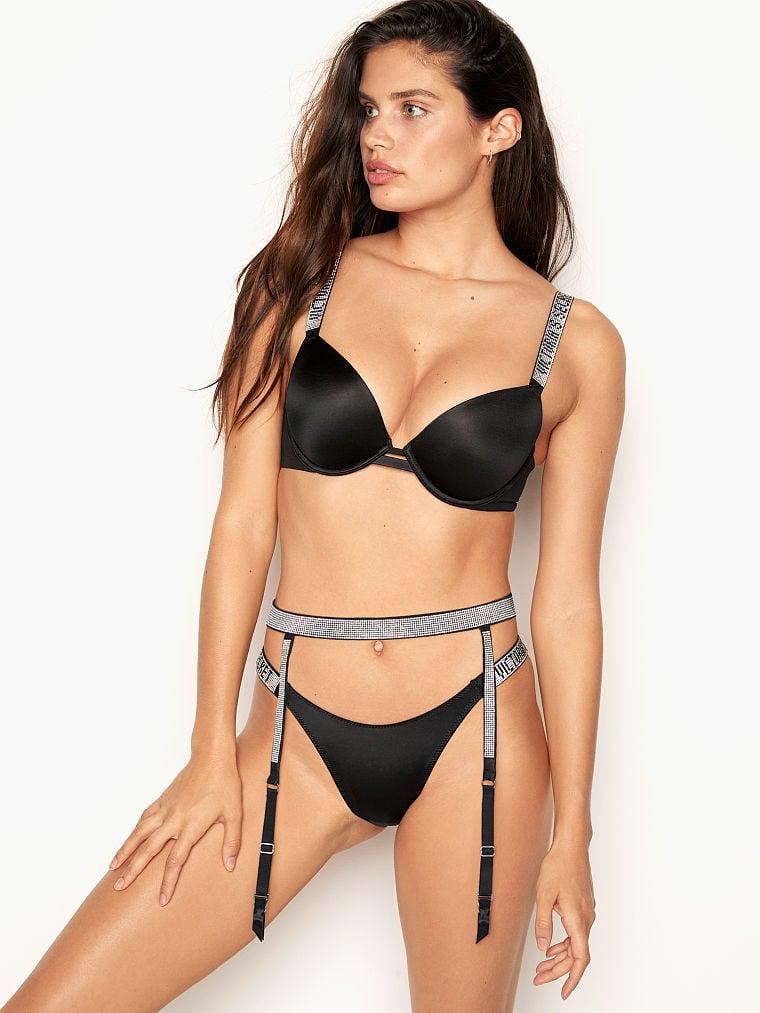 Victoria Secret Rhinestone VS Bling Brazilian Panty Lot x5 Small S NWOT *