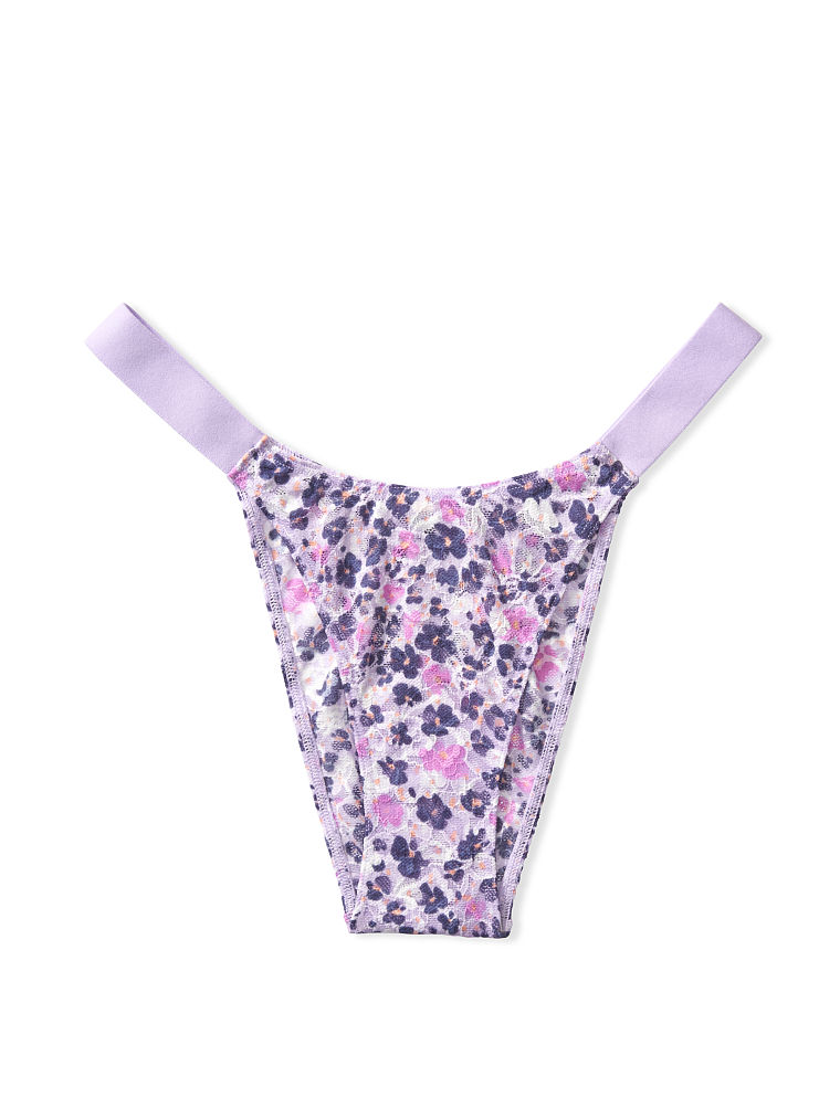 New PINK by Victoria/'s Secret Purple Lace Thong CHOOSE YOUR SIZE