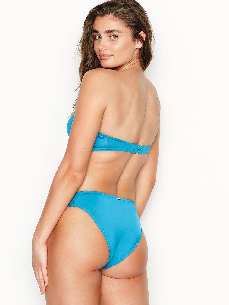 NEW Victoria Secret Swim Bralette banded Bikini Set SZ Large