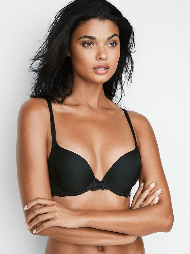 Details about  /VICTORIAS SECRET Body by Uplift Unlined Push-up W//O Padding Sling Lace Bra Green